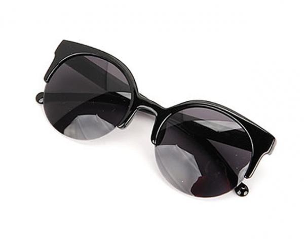 Cat eye vintage black solglasögon bild