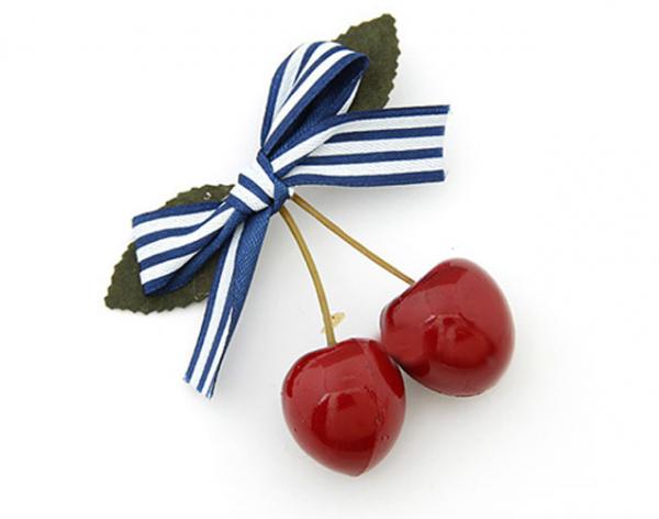 Cherry hårrosett - blå bild