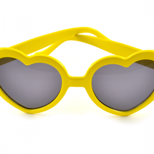 Gula hjärtformade solglasögon bild