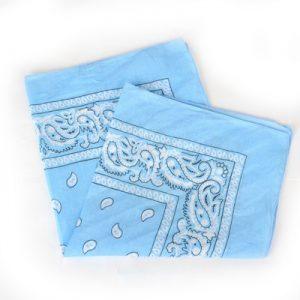 Scarf / hårscarf - Blå bild