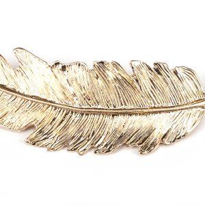 Fjäder guld- Hårspänne bild