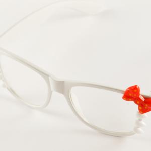 Hello Kitty glasögon - vita bild