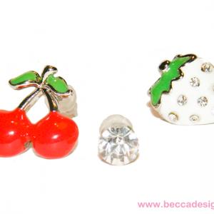 Körsbär och jordgubbe örhängen bild