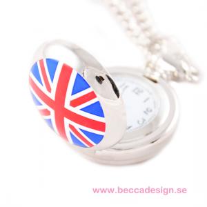 Liten halsbandsklocka Storbritannien flagga bild