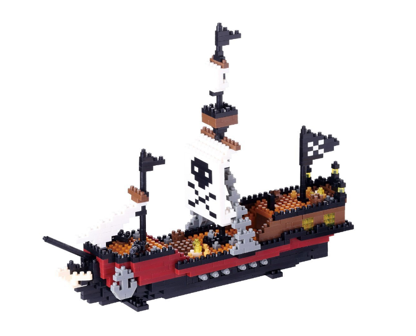 Nanoblock Piratskepp bild