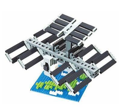Nanoblock Rymdstation (ISS) bild