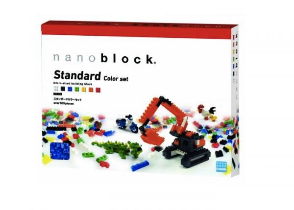 Nanoblock sats med standardfärger bild