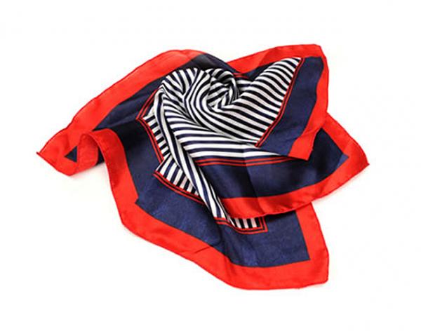 Scarf / hårscarf - red and blue bild
