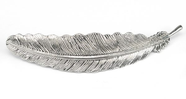 Fjäder silver- Hårspänne bild
