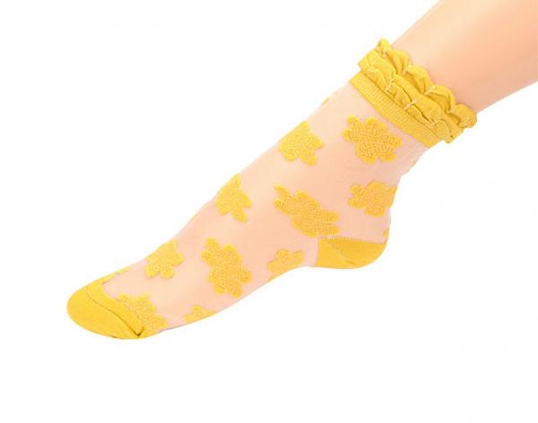 Spetsstrumpor - gul bild