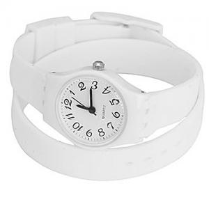 Wrap armbandsur - vit bild